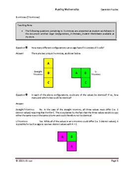 Puzzling Mathematics_Operation Puzzles_Cage Configurations
