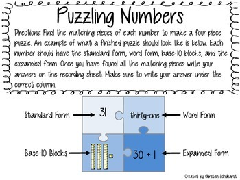 Puzzling Numbers - Place Value Strengthening