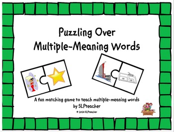 Puzzling Over Multiple-Meaning Words