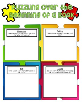 Puzzling Over the Beginning of a Book Anchor Chart