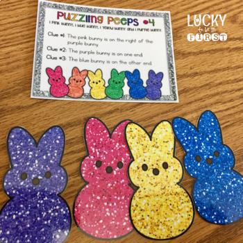 Puzzling Peeps Problem Solving {Logic Puzzles}