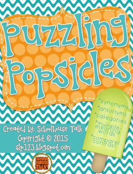 Puzzling Popsicles {Vocabulary Match-Ups}
