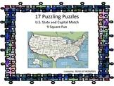 U.S. States and Capitals 9 Square Fun