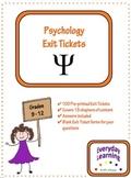 Psychology Exit Slip Tickets