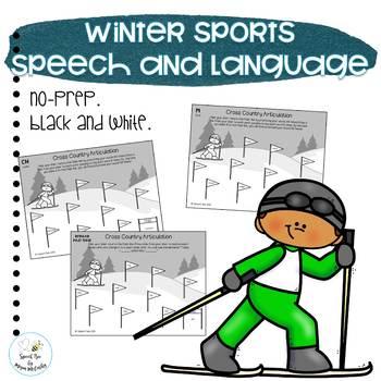 Pyeongchang 2018 Winter Olympics Speech/Lang. Worksheets