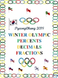 PyeongChang Olympic Percents-Decimals-Fractions