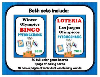 PyeongChang Winter Olympics BINGO BUNDLE (English & Spanish)