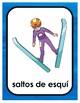 PyeongChang Winter Olympics BINGO (SPANISH)+ 16 bonus pages of vocabulary words