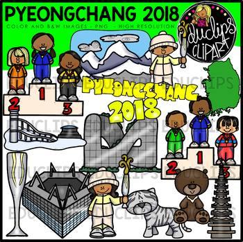 Pyeongchang 2018 Clip Art Bundle {Educlips Clipart}