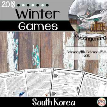 2018 Winter Olympics Packet (Pyeongchang, South Korea)
