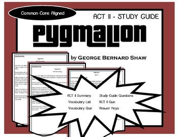 Pygmalion ACT II Study Guide (George Bernard Shaw)