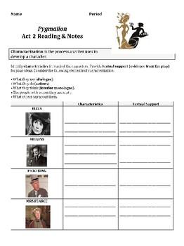 Pygmalion Act 2 Reading Guide