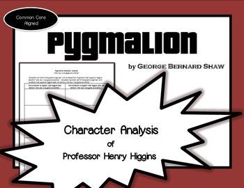 Pygmalion Character Analysis Professor Henry Higgins (Geor