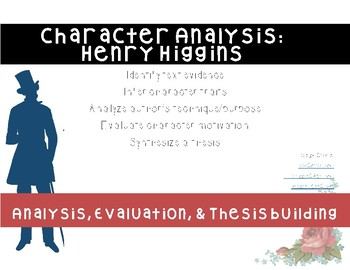 Pygmalion - Henry Higgins Character Analysis Chart & Questions