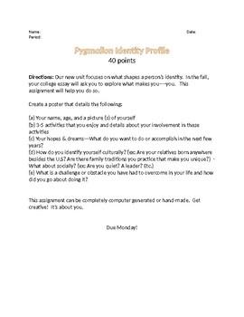 Pygmalion Identity Profile