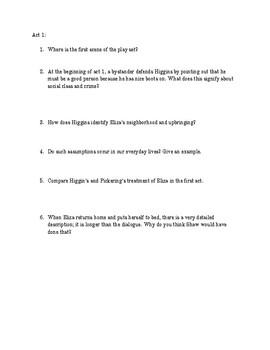 Pygmalion Unit Study Guide Packet
