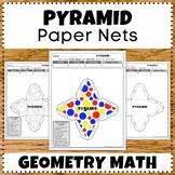 Making Pyramid 3D Shape Nets Worksheets