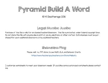 Pyramid Build A Word Writing Phonics Literacy Practice