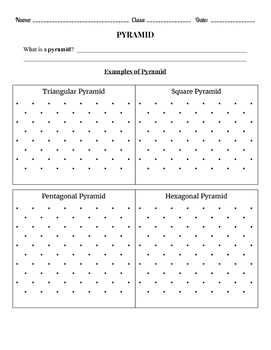 Pyramid:  Examples, Volume and Surface Area