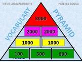 Pyramid Game - The 10 Commandments