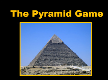 Pyramid Game for Staff Meetings