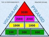 Pyramid Game w/Sound - 10 Commandments