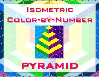 Pyramid Isometric Color-by-Number