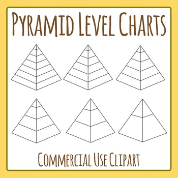 Pyramid Level Charts / Diagrams Clip Art Set for Commercial Use