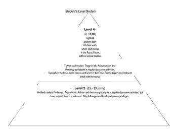 Pyramid Level System--Behavior Management