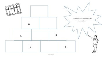 Pyramid Math Puzzle Full Packet - Let's Get Adding and Subtracting!