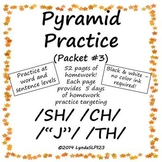 Pyramid Practice #3 for Articulation Therapy targeting SH CH TH and J