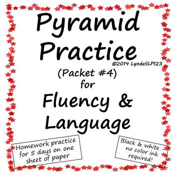 Pyramid Practice for Fluency and Language  #septslpmusthave