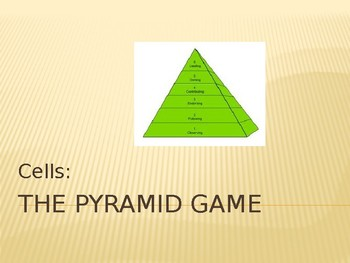 Pyramid Review Game: Cells