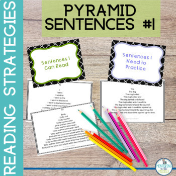 Fluency Practice:  Pyramid Sentences for upper elementary grades