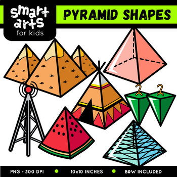Pyramid Shapes Cliparts