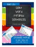Pyramid Sight Word Sentences Blue List