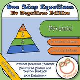 Pyramid: Solving One Step Equations (No Negatives Edition)
