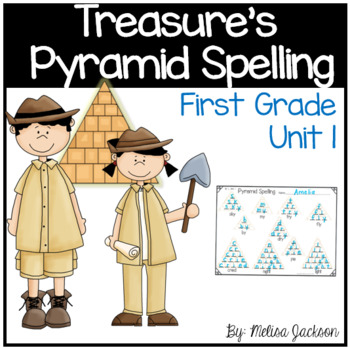 Pyramid Spelling Practice Unit 1 Macmillan/McGraw-Hill Treasures First Grade