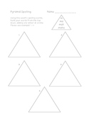 Pyramid Spelling Template