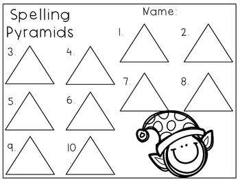 Pyramid Spelling Templates Through the Year
