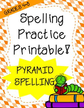 Word Work: Pyramid Words (Spelling Worksheet)