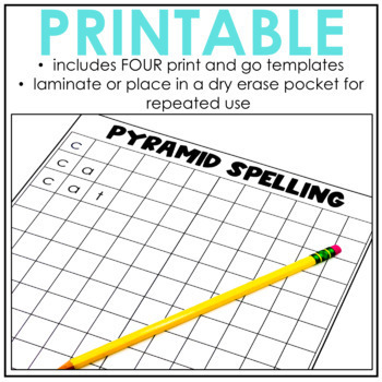 Pyramid Spelling Word Work Activity