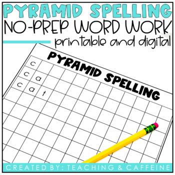 Pyramid Spelling Worksheet