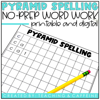 Pyramid Spelling {A NO PREP word work activity}