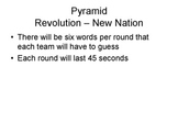 Pyramid Style Review Game - American Revolution and Federalist Era