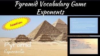 Pyramid Vocabulary Review Exponents