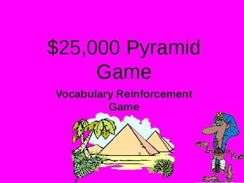 Pyramid Vocabulary Review Game