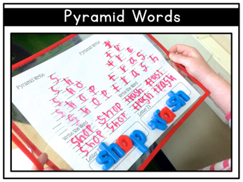 Pyramid Writing: A Word Work Activity