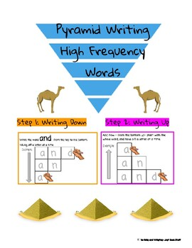 Pyramid Write Words Worksheets & Teaching Resources | TpT