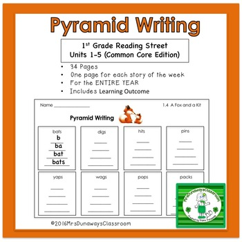 Pyramid Writing for Reading Street - Gr. 1